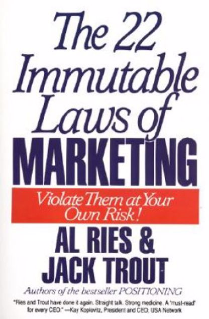 Picture of 22 Immutable Laws Of Marketing