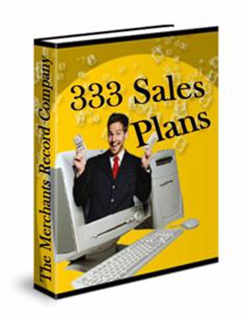 Picture of 333 Sales Plans