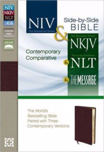 Picture of Contemporary Comparative Side-By-Side Bible: Niv Nkjv Nlt The Messageburgundy