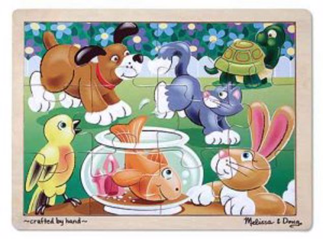 Picture of 12Pc Wooden Tray Puzzle