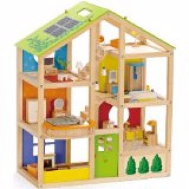 Picture of All Season Doll House - Furnished Playset