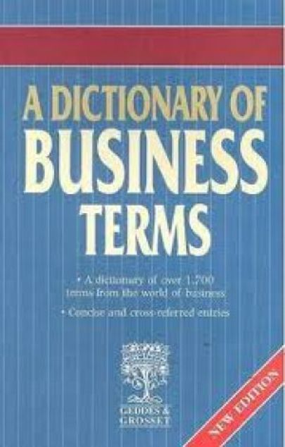 Picture of A-Dictionary Of Business Terms