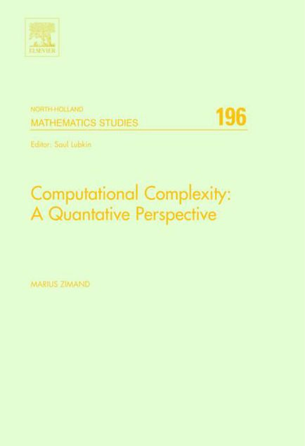 Picture of Computational Complexity: A Quantitative Perspective: A Quantitative Perspective