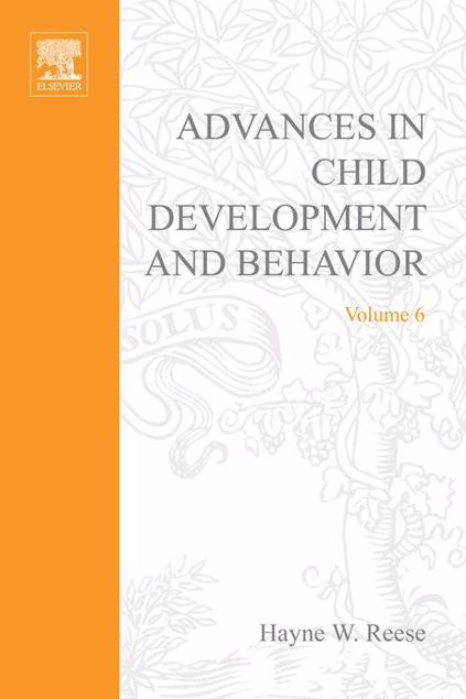 Picture of ADV IN CHILD DEVELOPMENT &BEHAVIOR V 6