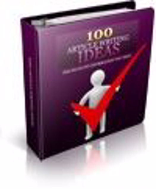 Picture of 100 Article Writing Ideas