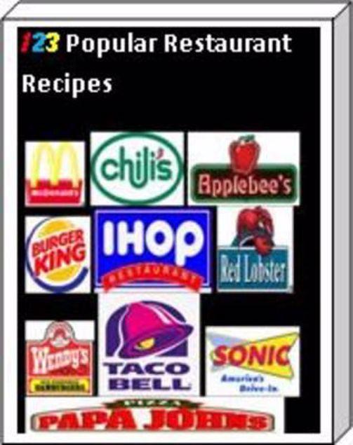 Picture of 123 Popular Restaurant Recipes