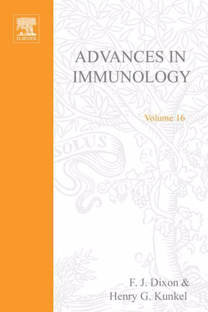 Picture of ADVANCES IN IMMUNOLOGY VOLUME 16
