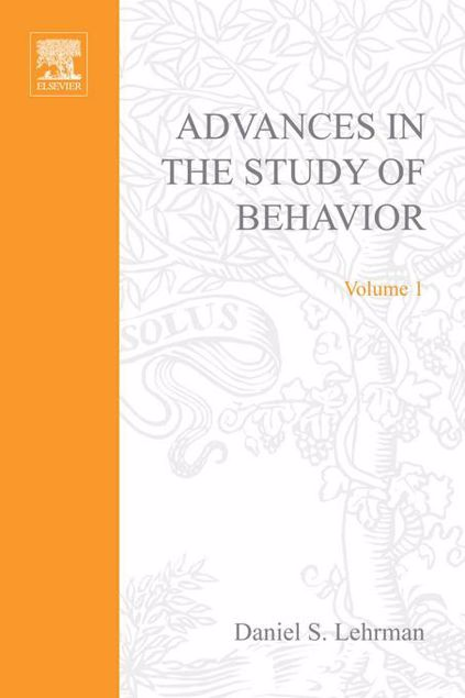 Picture of ADVANCES IN THE STUDY OF BEHAVIOR VOL 1