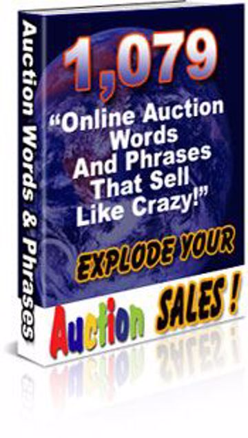 Picture of 1,079 Online Auction Words And Phrases That Sell Like CRAZY!