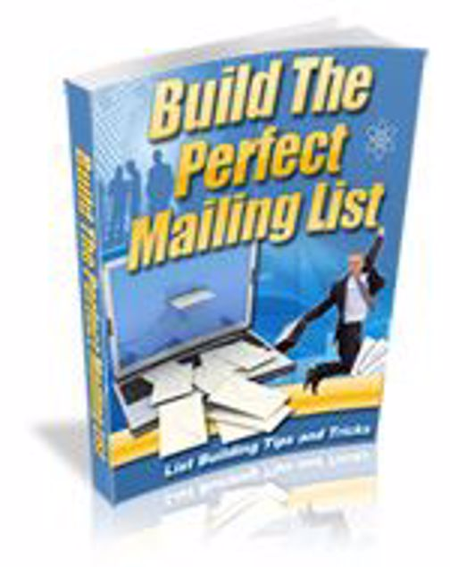 Picture of Building The Perfect Mailing List