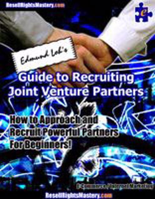 Picture of Edmund Loh's Guide To Recruiting Joint Venture Partners