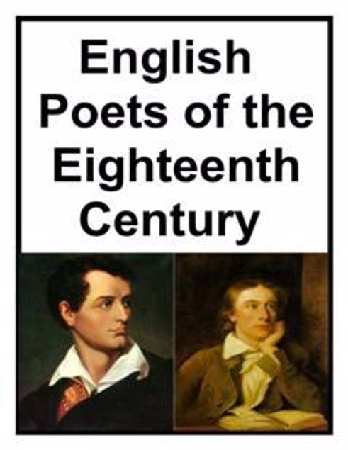 Picture of English Poets Of The Eighteenth Century