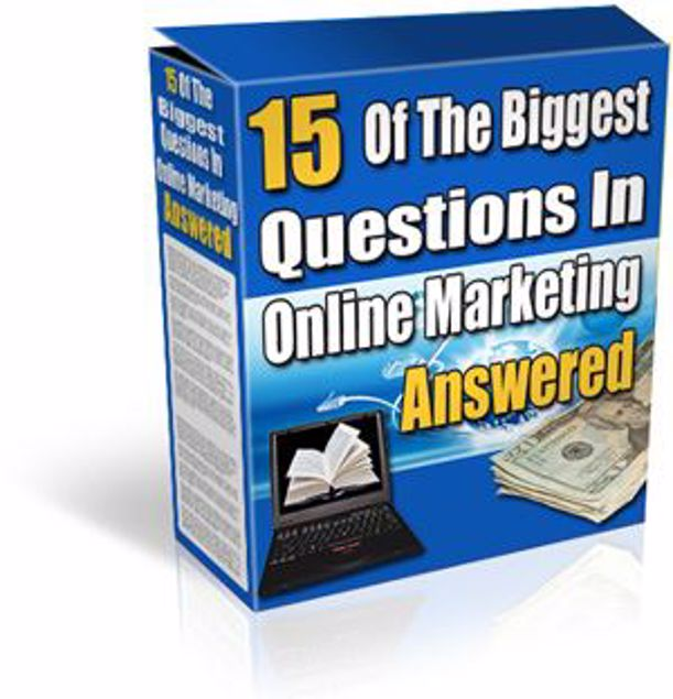 Picture of 15 Of The Biggest Questions In Online Marketing Answered