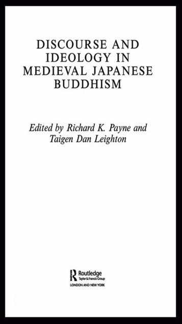 Picture of Discourse and Ideology in Medieval Japanese Buddhism