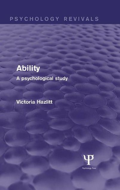 Picture of Ability: A Psychological Study: A Psychological Study