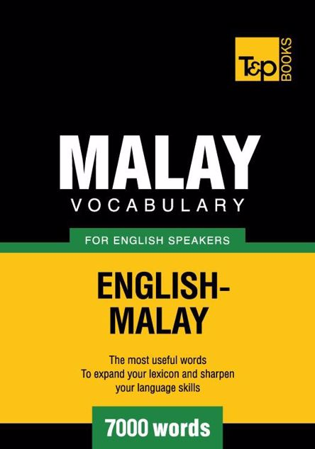 Picture of Malay vocabulary for English speakers - 7000 words