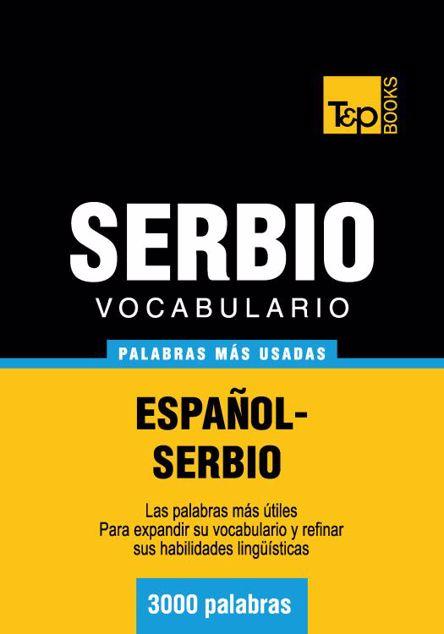 Picture of Vocabulario Espanol-Serbio - 3000 Palabras Mas Usadas