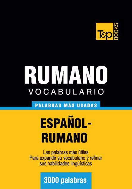 Picture of Vocabulario Espanol-Rumano - 3000 Palabras Mas Usadas