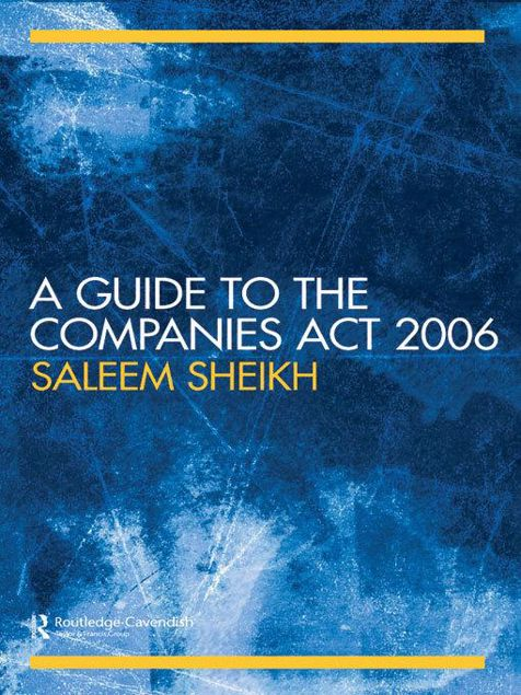 Picture of A Guide to the Companies ACT 2006