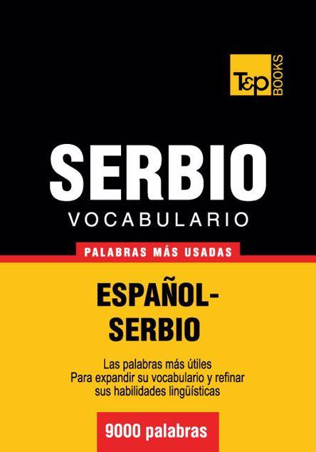 Picture of Vocabulario Espanol-Serbio - 9000 Palabras Mas Usadas