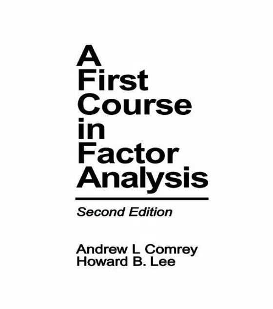 Picture of A First Course in Factor Analysis