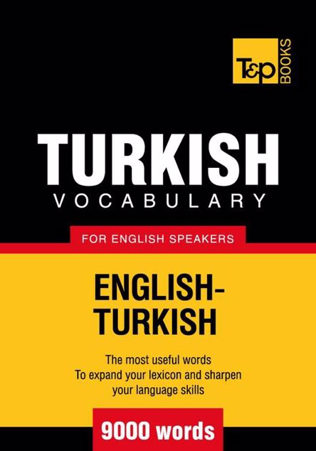 Picture of T&p English-Turkish Vocabulary 9000 Words