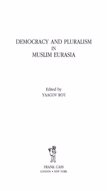 Picture of Democracy and Pluralism in Muslim Eurasia