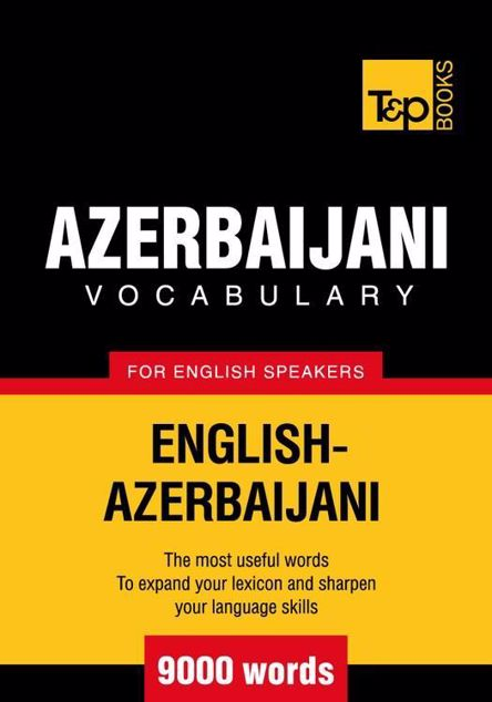 Picture of T&p English-Azerbaijani Vocabulary 9000 Words