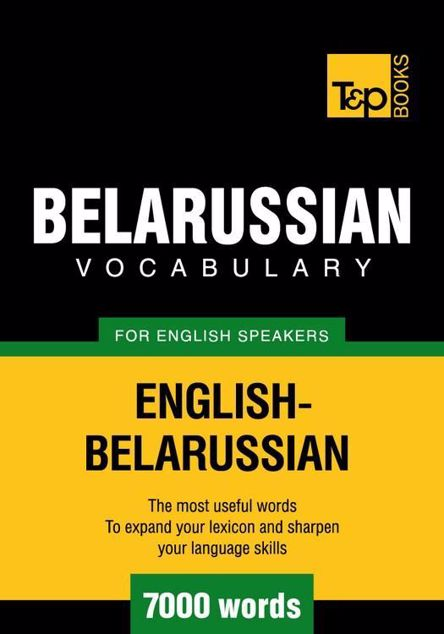 Picture of T&p English-Belarussian Vocabulary 7000 Words