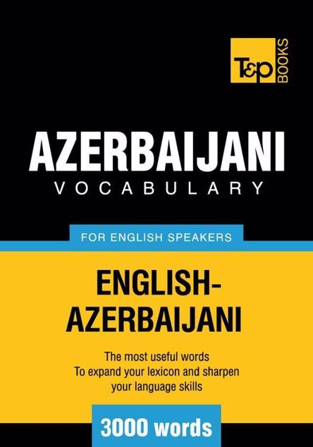 Picture of T&p English-Azerbaijani Vocabulary 3000 Words
