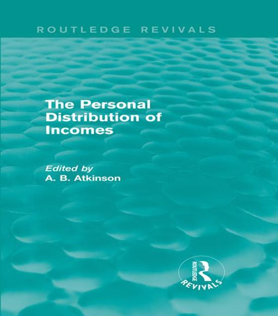 Picture of The Personal Distribution of Incomes (Routledge Revivals)