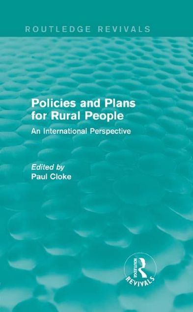 Picture of Policies and Plans for Rural People: An International Perspective: An International Perspective