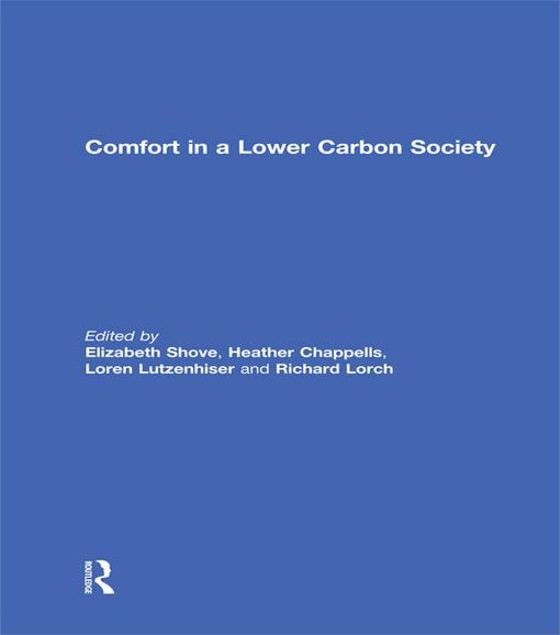 Picture of Comfort in a Lower Carbon Society -