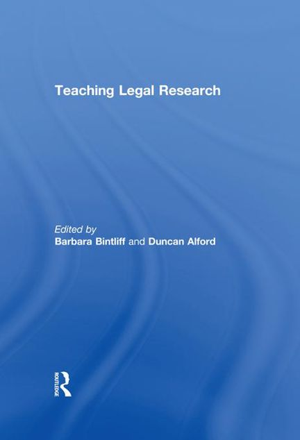 Picture of Teaching Legal Research - Bintliff