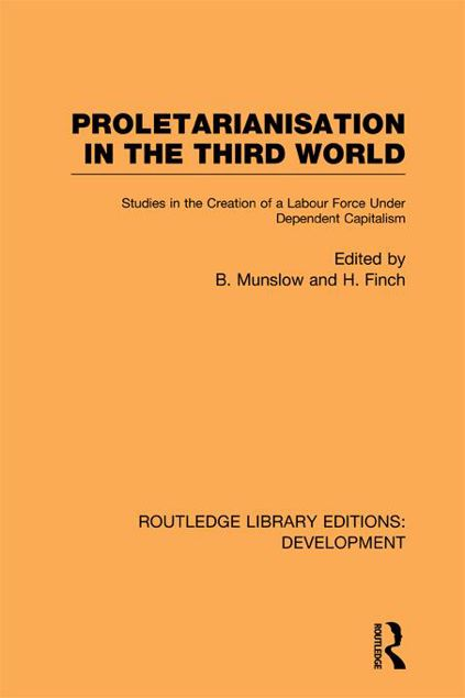 Picture of Proletarianisation in the Third World: Studies in the Creation of a Labour Force Under Dependent Capitalism