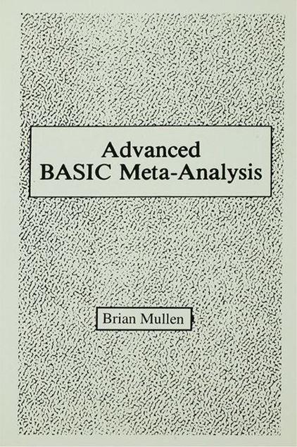 Picture of Advanced Basic Meta-Analysis: Version 1.10