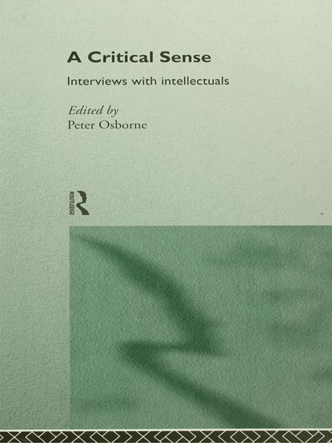 Picture of A Critical Sense: Interviews with Intellectuals
