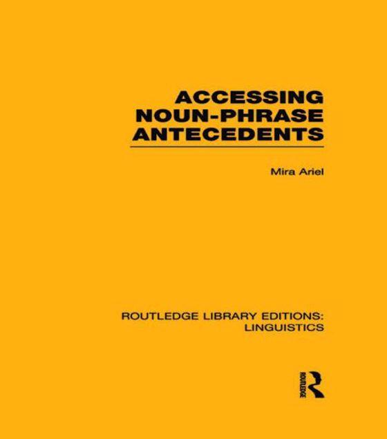 Picture of Accessing Noun-Phrase Antecedents