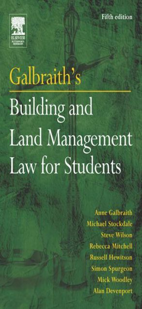 Picture of Galbraith's Building and Land Management Law for Students