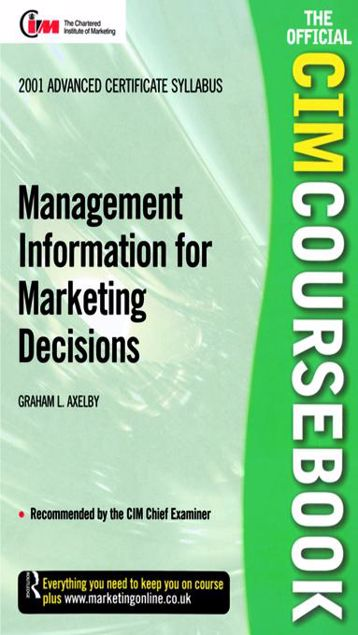 Picture of CIM Coursebook 01/02 Management Information for Marketing Decisions
