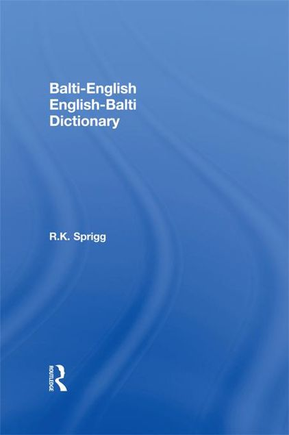 Picture of Balti-English / English-Balti Dictionary