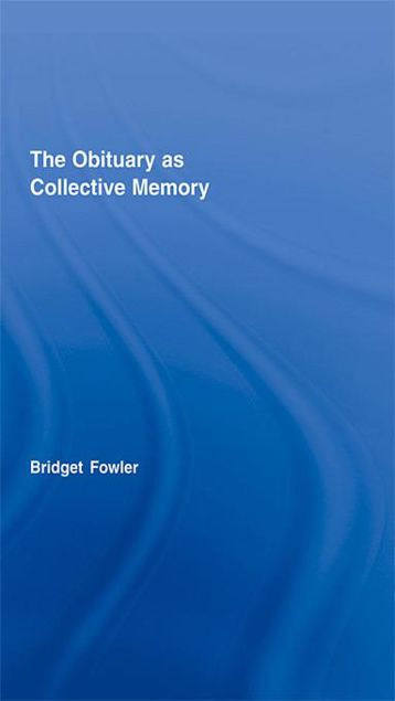 Picture of The Obituary as Collective Memory