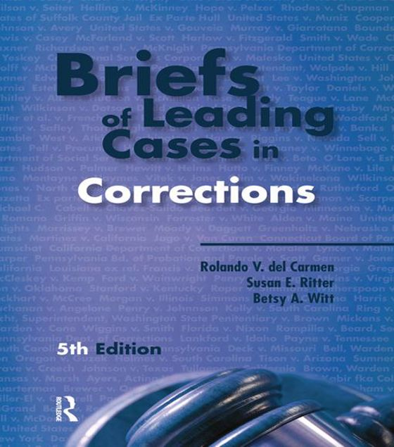 Picture of Briefs of Leading Cases in Corrections