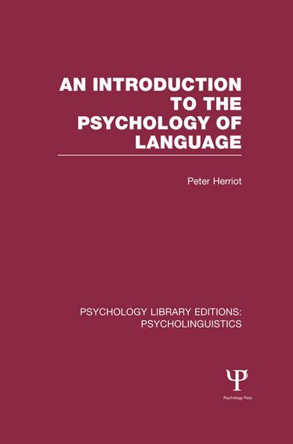 Picture of An Introduction to the Psychology of Language