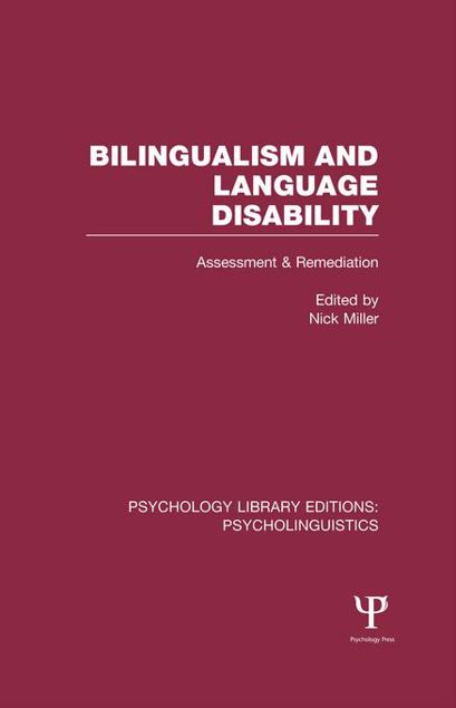 Picture of Bilingualism and Language Disability: Assessment and Remediation