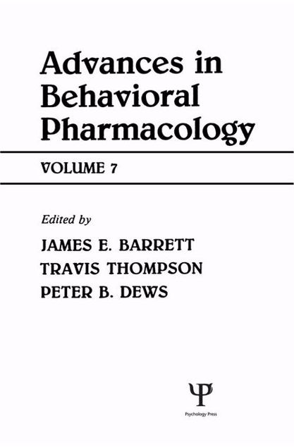 Picture of Advances in Behavioral Pharmacology: Volume 7