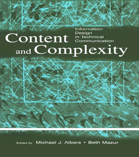 Picture of Content and Complexity: information Design in Technical Communication