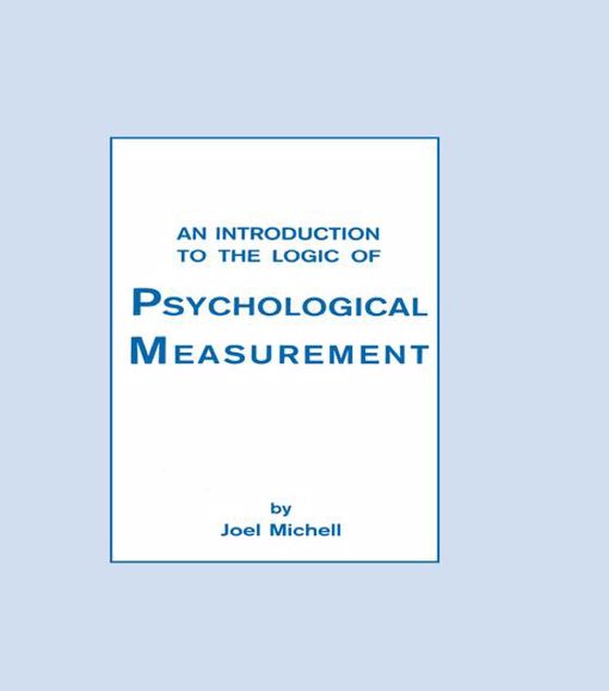 Picture of An Introduction To the Logic of Psychological Measurement