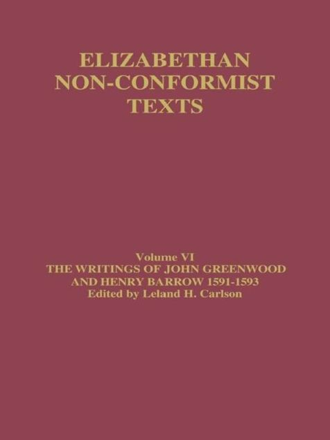Picture of Writings of John Greenwood and Henry Barrow 1591-1593