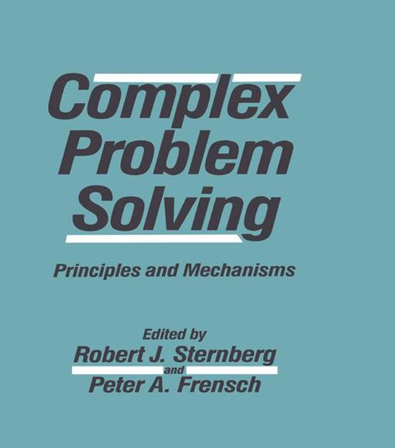 Picture of Complex Problem Solving: Principles and Mechanisms